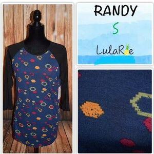 Lularoe Randy Women's Small Black Sleeve Aztec